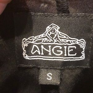 Angie Tops - Black Angie Tunic Top with Gold Sequins Small
